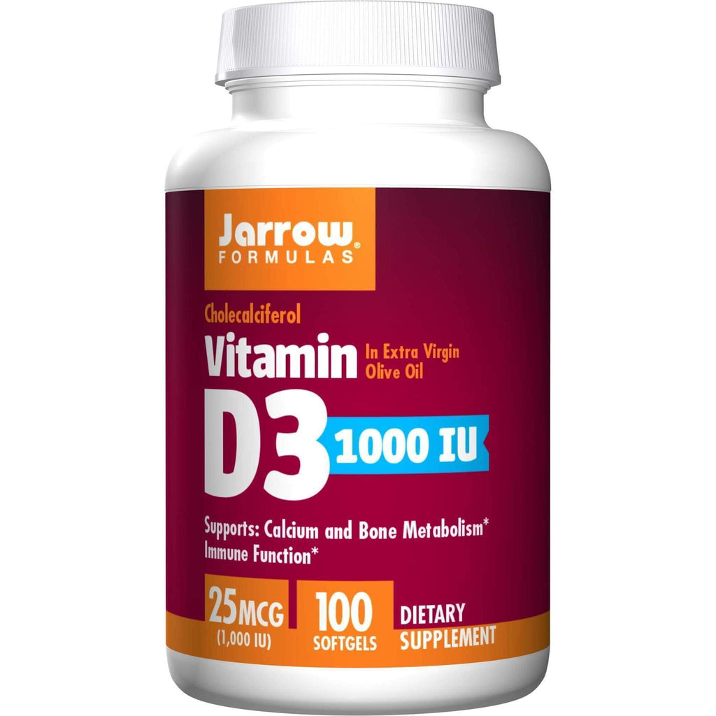D-3 1000 IU 100sg - Jarrow - Earthly Nutrition