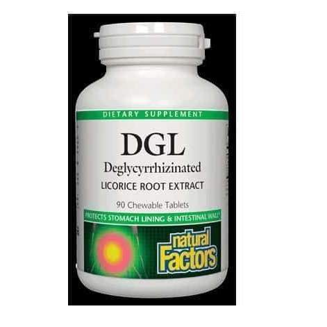 DGL Licorice Root Extract 90 Tablets – Natural Factors - Earthly Nutrition
