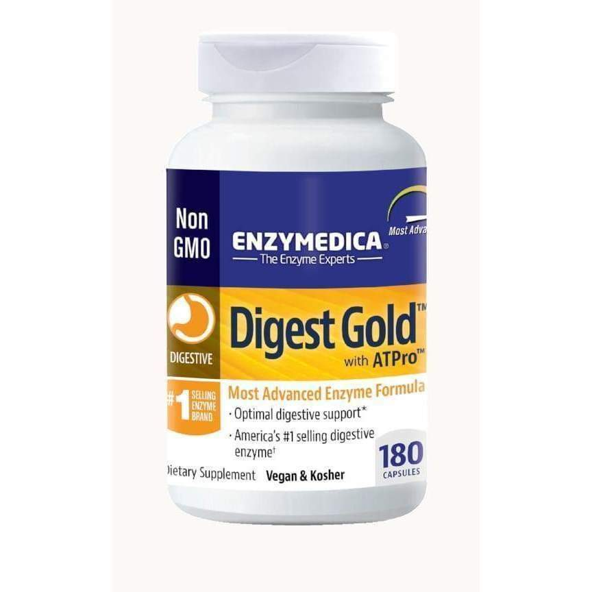 Digest Gold with ATPro, 180 Vegan and Kosher capsules - Earthly Nutrition