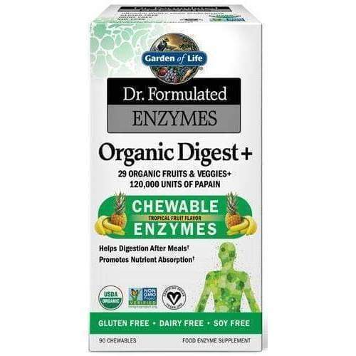 Dr. Formulated Chewable Enzymes Digest, Tropical Fruit 90ct - Earthly Nutrition