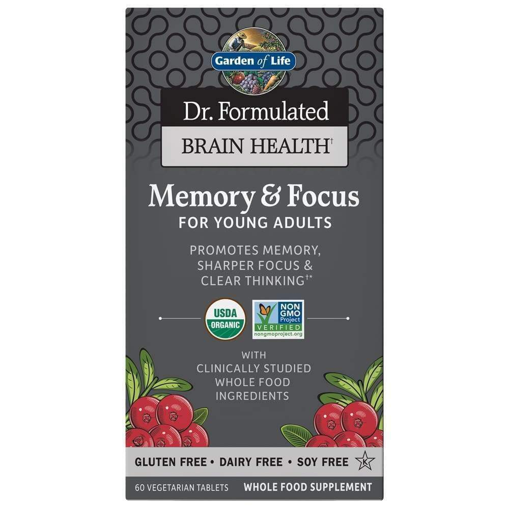 Dr. Formulated Organic Memory and Focus, Young Adults, 60 vegetarian caps - Earthly Nutrition