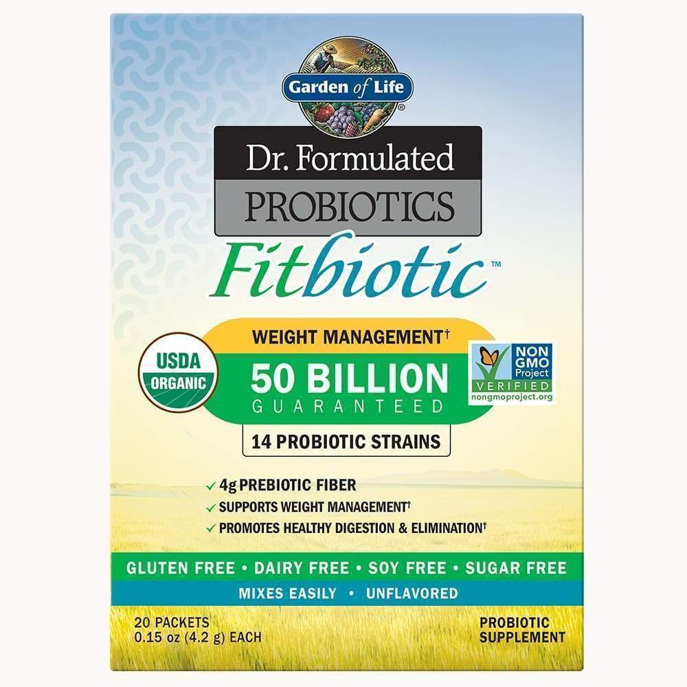 Dr. Formulated Probiotics Fitbiotic Powder 50 Billion CFU - Earthly Nutrition
