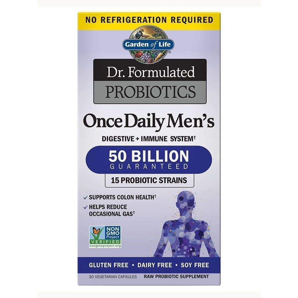 Dr. Formulated Probiotics Once Daily Men's 50 Billion - 30 Vegetarian Capsules - Earthly Nutrition