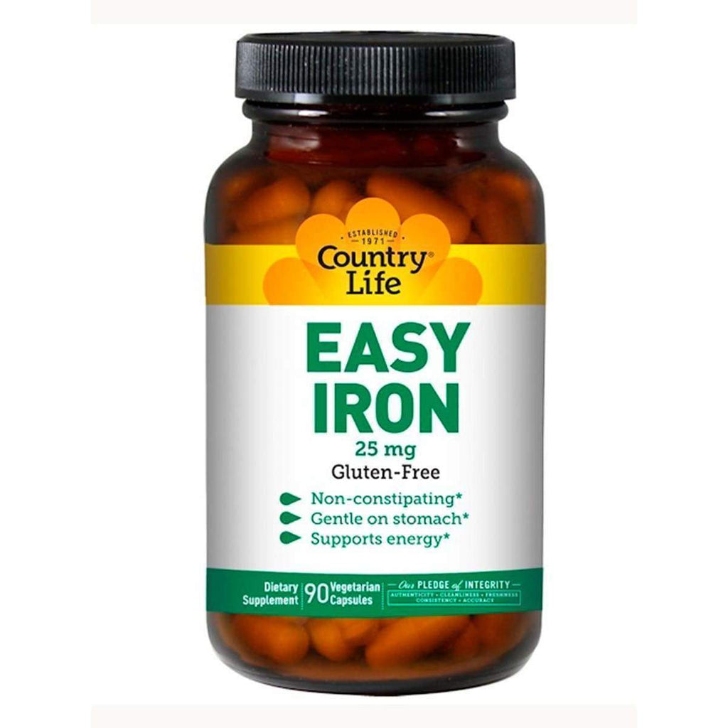 Easy Iron 25mg 90 Capsules - Country Life - Earthly Nutrition