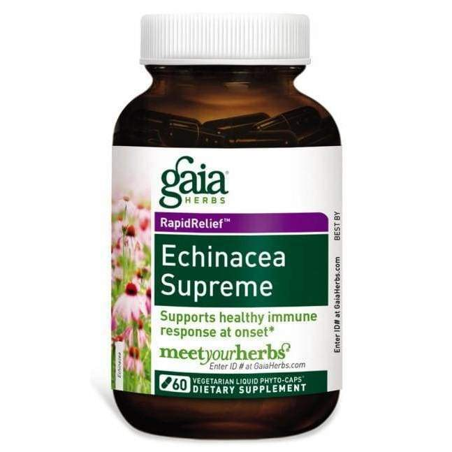 Echinacea Supreme 60 vcap - Gaia Herbs - Earthly Nutrition