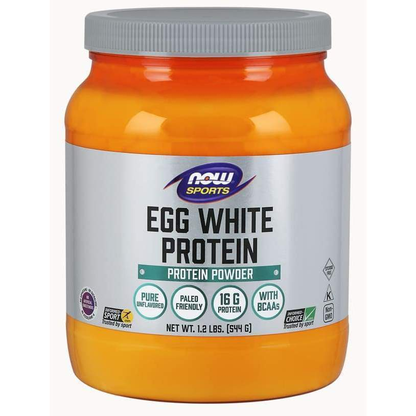 Eggwhite Protein 1.2 lbs - Now Foods - Earthly Nutrition