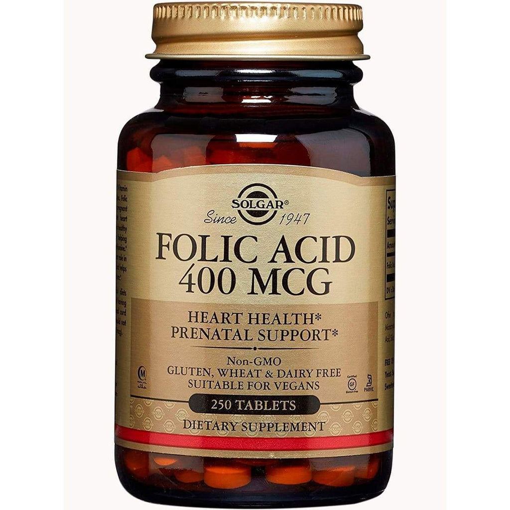 Folic Acid 400 MCG 250 Tablets - Solgar - Earthly Nutrition