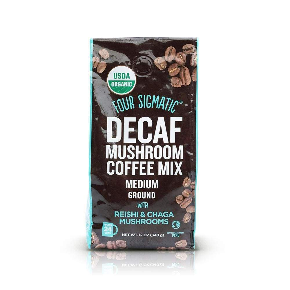 Four Sigmatic Ground Mushroom Coffee with Reishi & Chaga DECAF, 12 oz