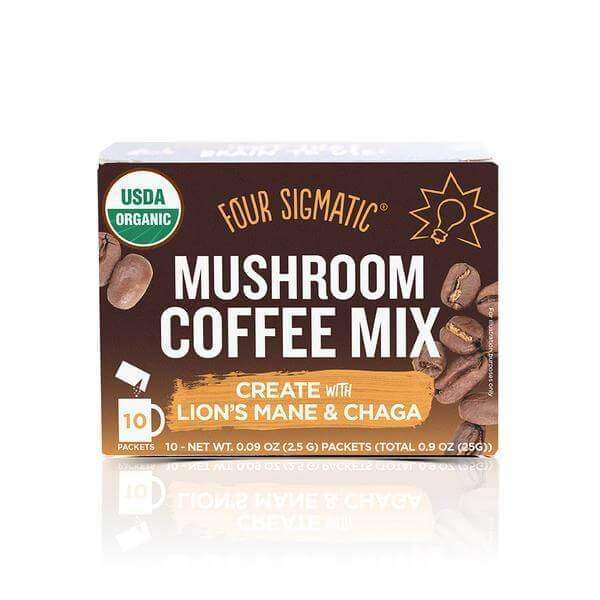 Four Sigmatic Lion's Mane & Chaga Mushroom Coffee - 10 packets - Earthly Nutrition