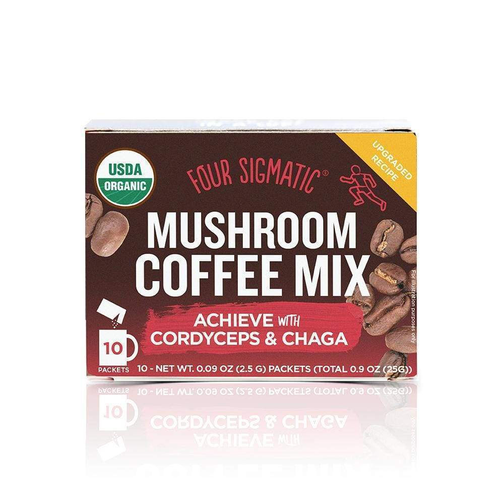 Four Sigmatic Mushroom Coffee Cordyceps & Chaga - 10 packets - Earthly Nutrition