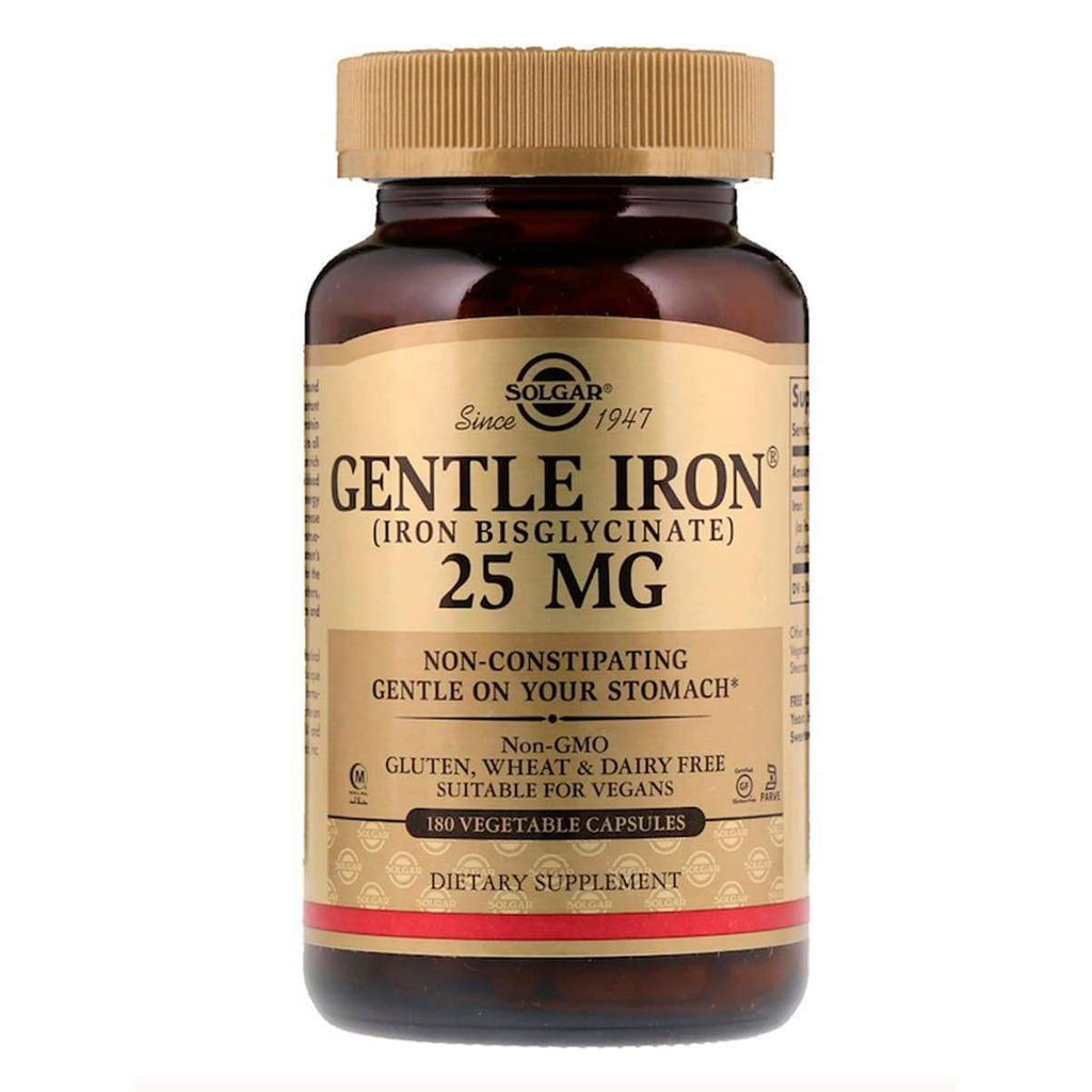Gentle Iron 25 MG 180 Capsules - Solgar - Earthly Nutrition