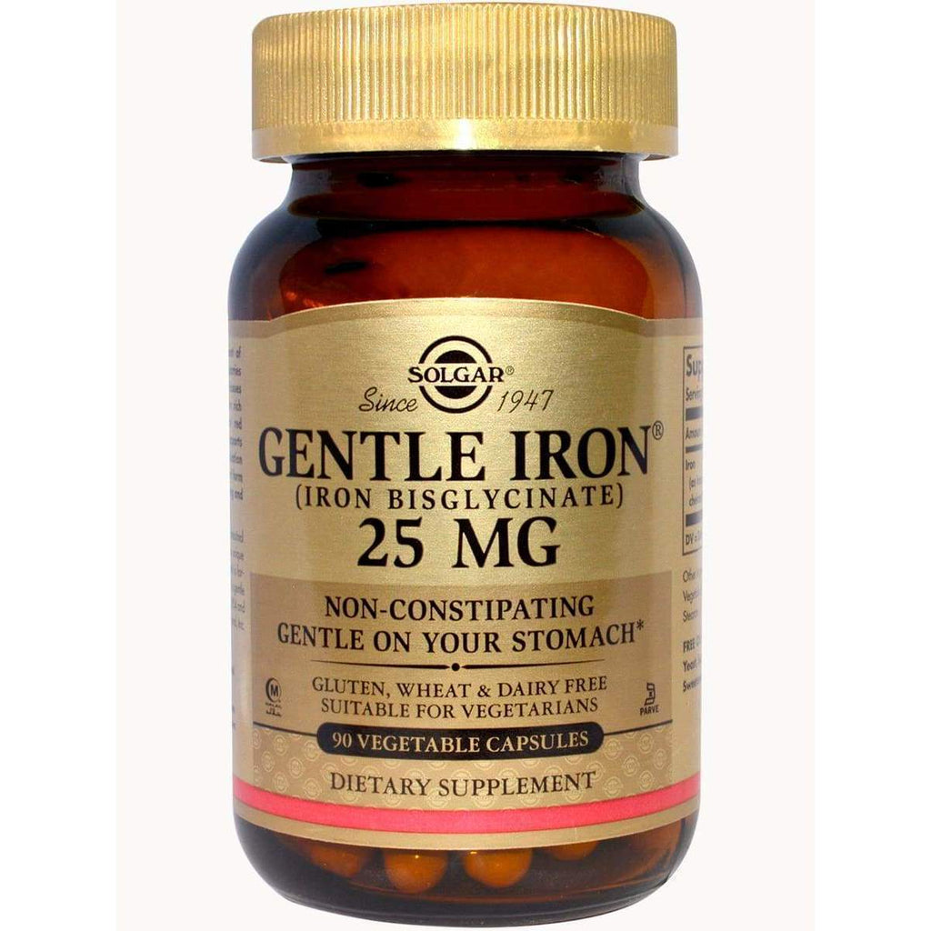 Gentle Iron 25 MG 90 Cap - Solgar - Earthly Nutrition
