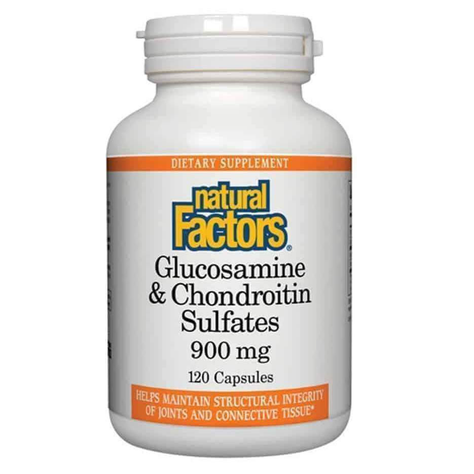 Glucosamine Chondroitin 120 Capsules – Natural Factors - Earthly Nutrition