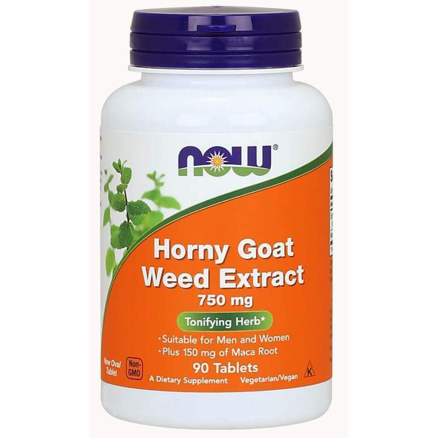 HORNY GOAT WEED 750MG 90 TABS - Earthly Nutrition