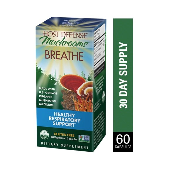 Host Defense, Breathe 60 vegetarian capsules - Earthly Nutrition