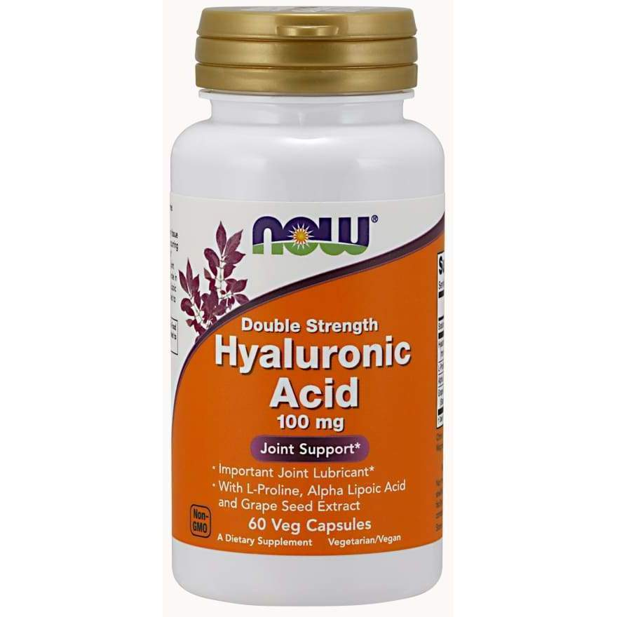 HYALURONIC ACID 100MG 2X PLUS 60 VCAPS - Earthly Nutrition