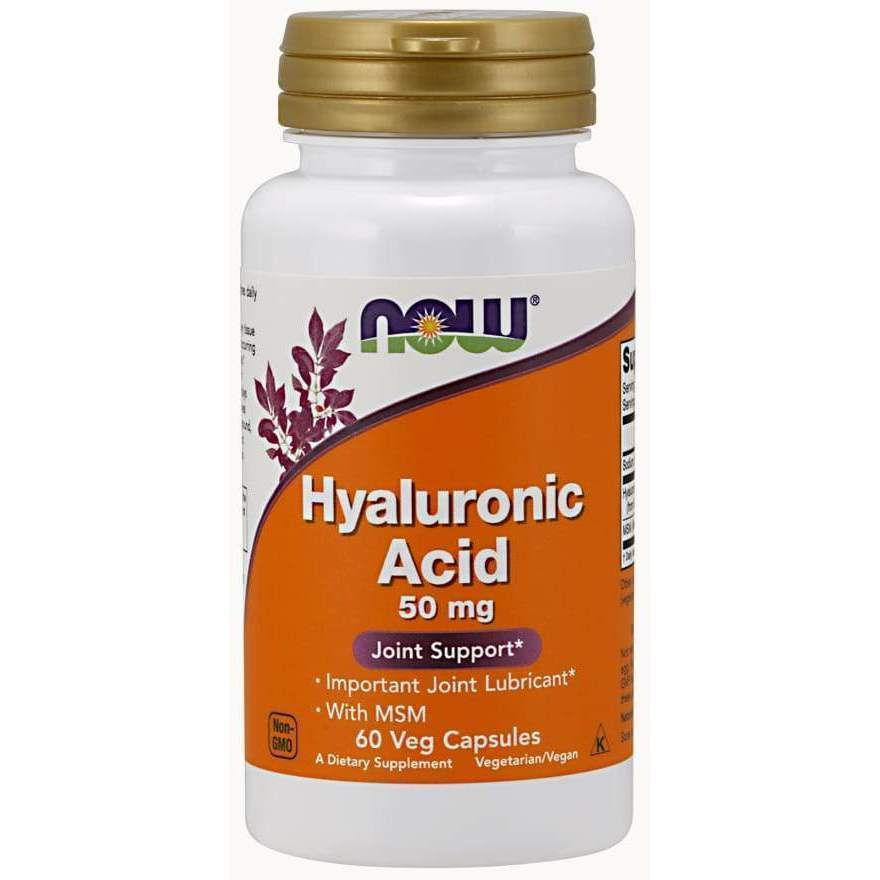 HYALURONIC ACID 50MG + MSM 60 VCAPS - Earthly Nutrition