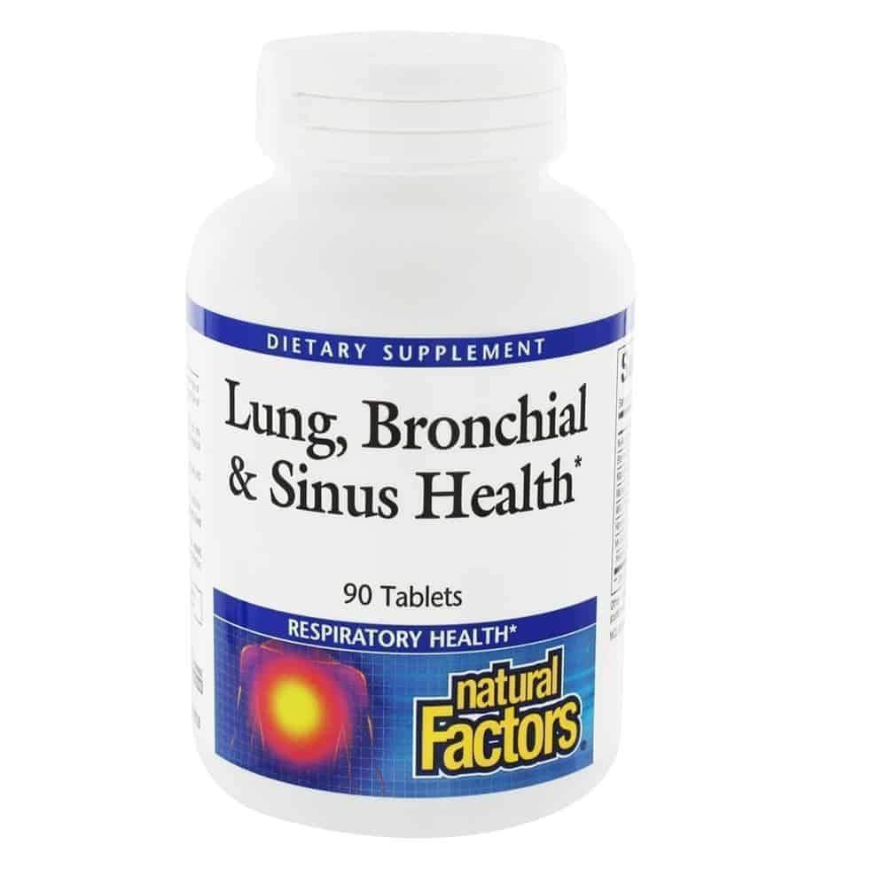 Lung, Bronchial & Sinus Health 45 tablets – Natural Factors - Earthly Nutrition