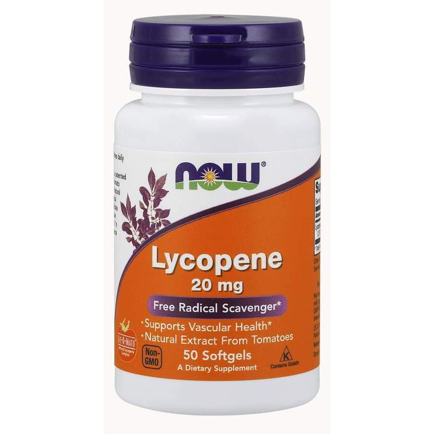 Lycopene 20mg 50 Gels - Now Foods - Earthly Nutrition