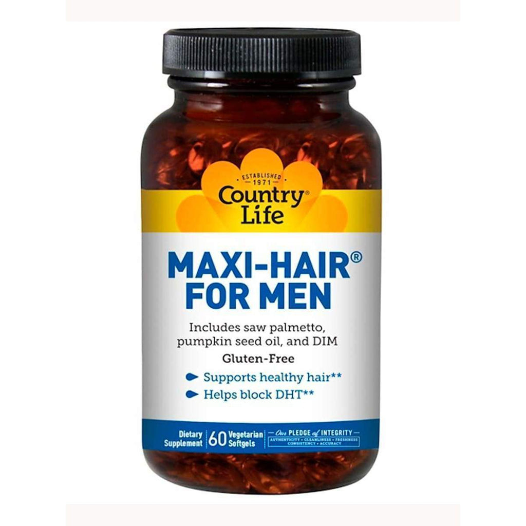 Maxi-Hair for Men 60 Softgels - Country Life - Earthly Nutrition
