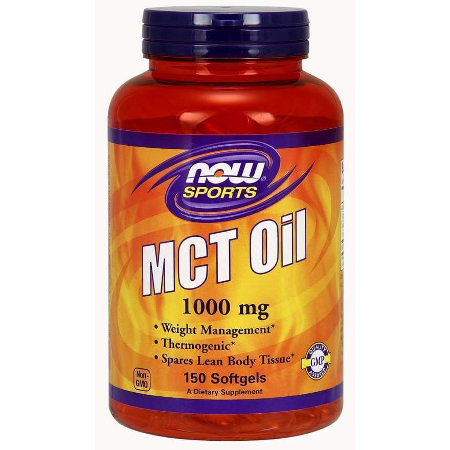 MCT Oil 1000mg 150 Gels - Now Foods - Earthly Nutrition