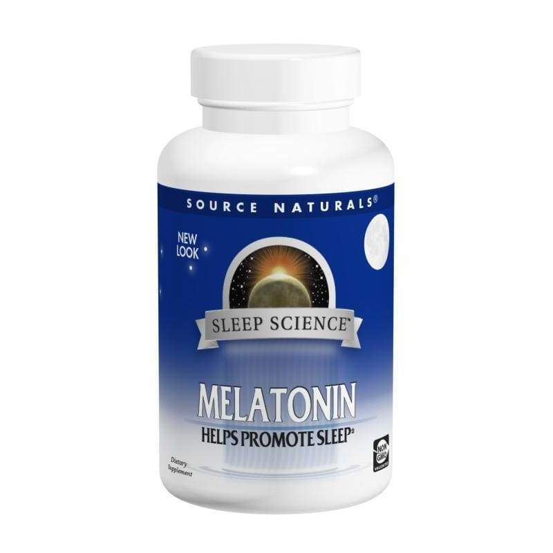 Melatonin 3 mg T/R 60 Tabs - Source Naturals - Earthly Nutrition