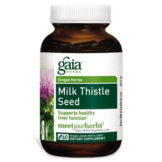 Milk Thistle Seed 60 vcap - Gaia Herbs - Earthly Nutrition