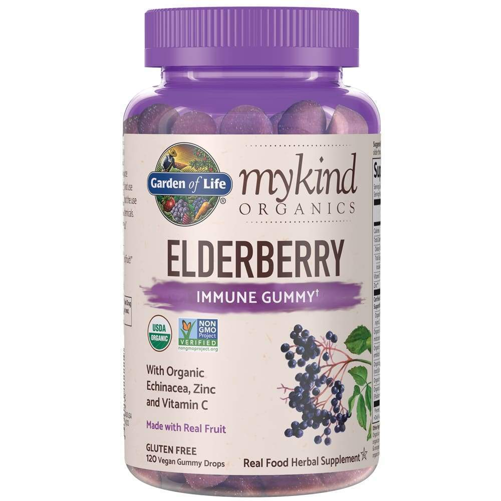 Mykind Herbal Elderberry 120ct Gummy - Earthly Nutrition