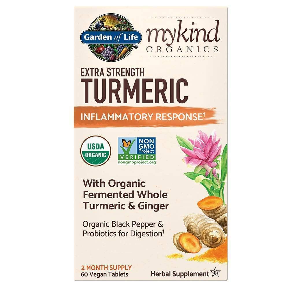 Mykind Herbal Turmeric Extra Strength 60ct Tablets - Earthly Nutrition