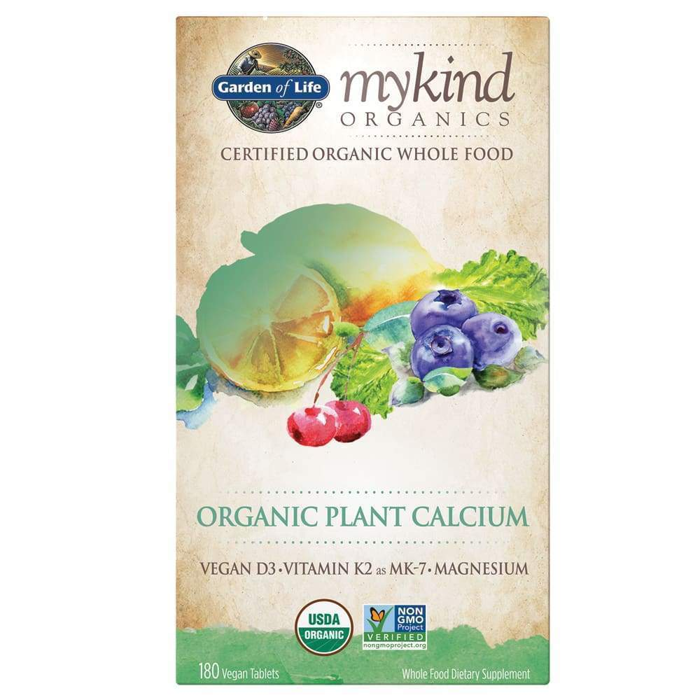 mykind Organic Plant Calcium, 180 Vegan Tablets - Earthly Nutrition