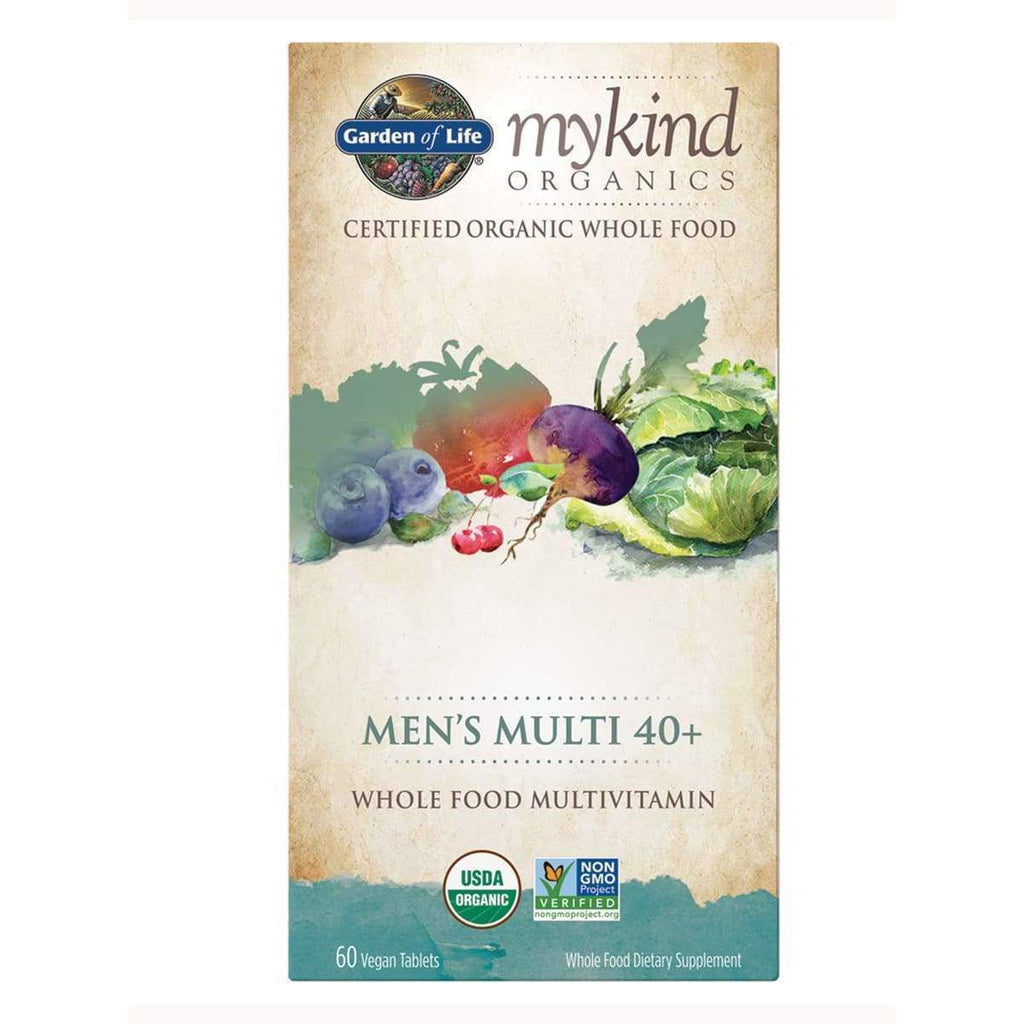 Mykind Organics Men's Multi 40+ 60 Vegan Tablets - Earthly Nutrition
