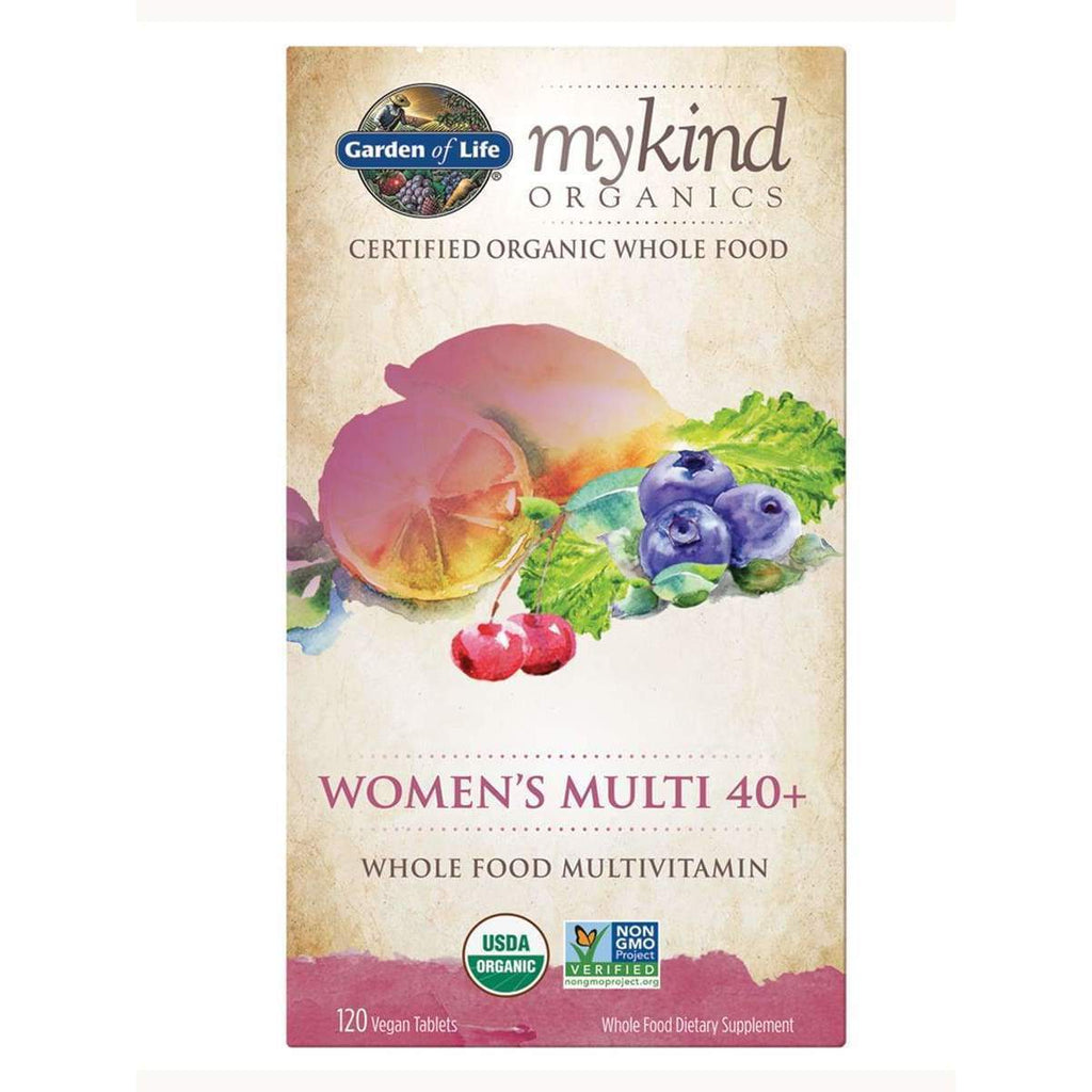 Mykind Organics Women's Multi 40+ 120 Vegan Tablets - Earthly Nutrition