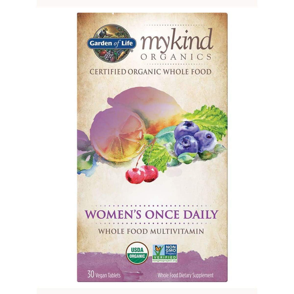 Mykind Organics Women's Once Daily Multi 30 Vegan Tablets - Earthly Nutrition