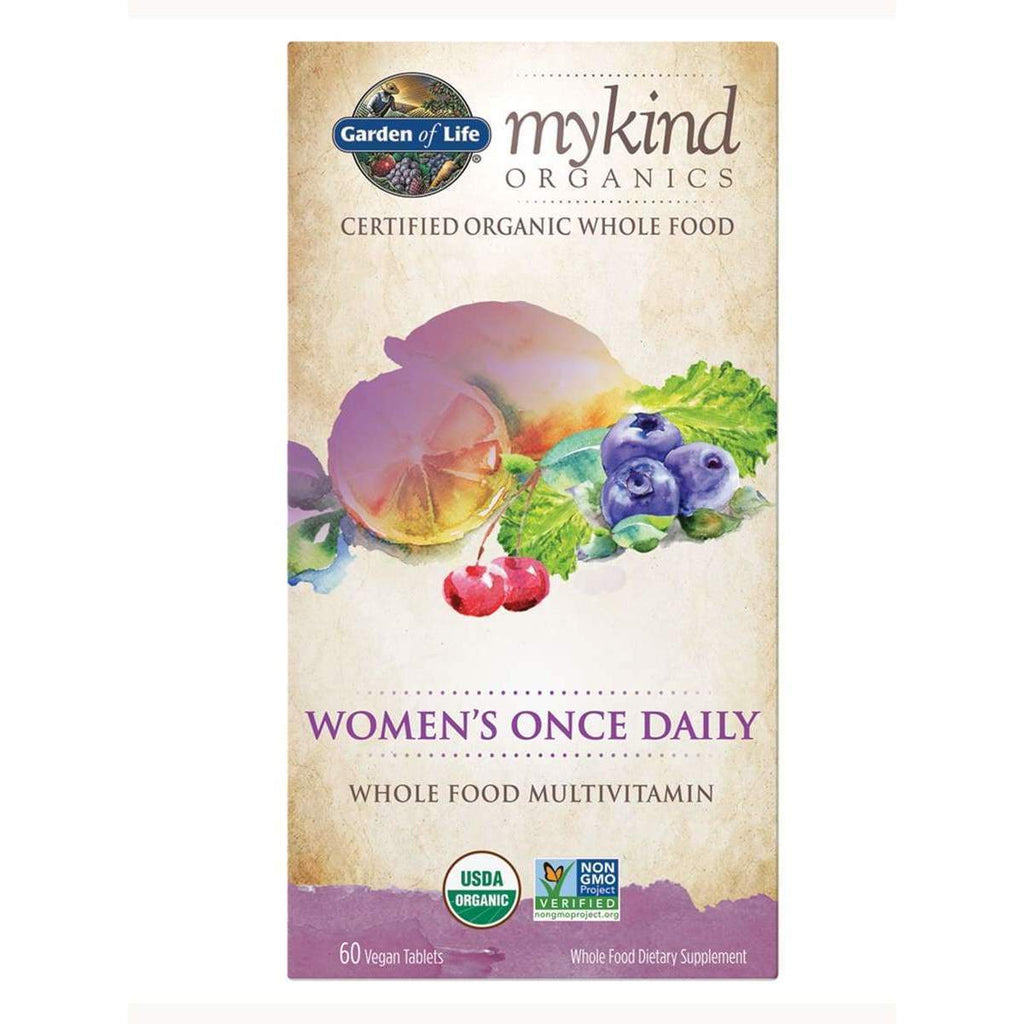 Mykind Organics Women's Once Daily Multi 60 Vegan Tablets - Earthly Nutrition