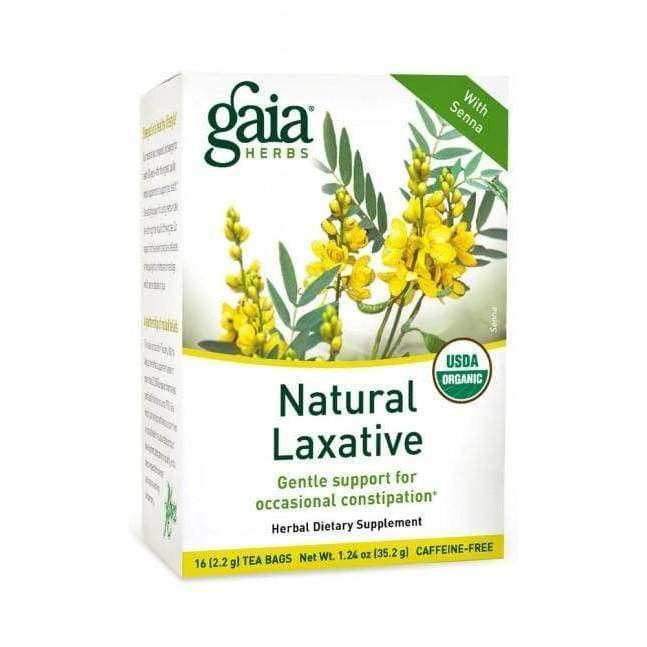 Natural Laxative Tea - Gaia Herbs - Earthly Nutrition