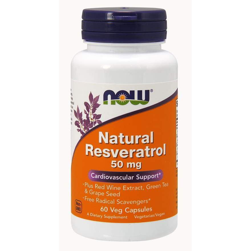 NATURAL RESVERATROL 50 MG 60 VCAPS - Earthly Nutrition