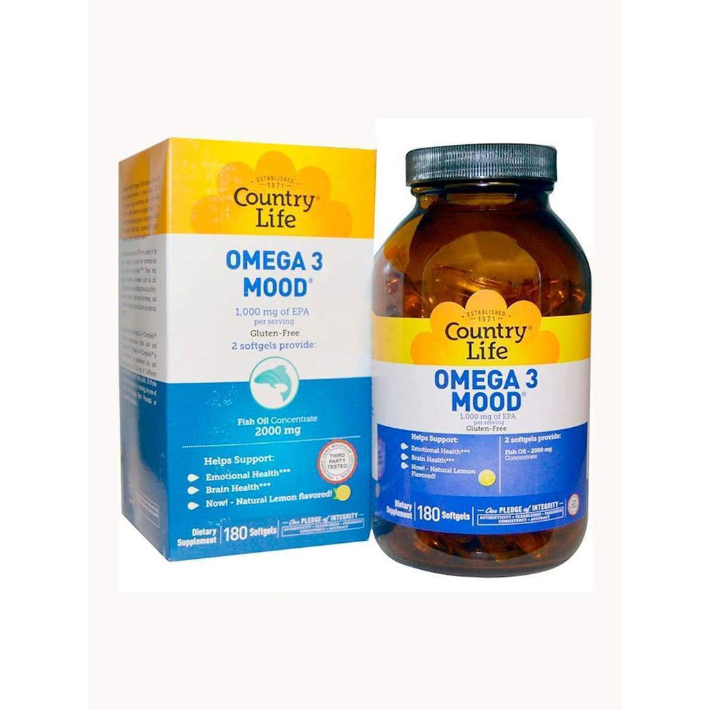 Omega 3 Mood 180 Softgels - Country Life - Earthly Nutrition