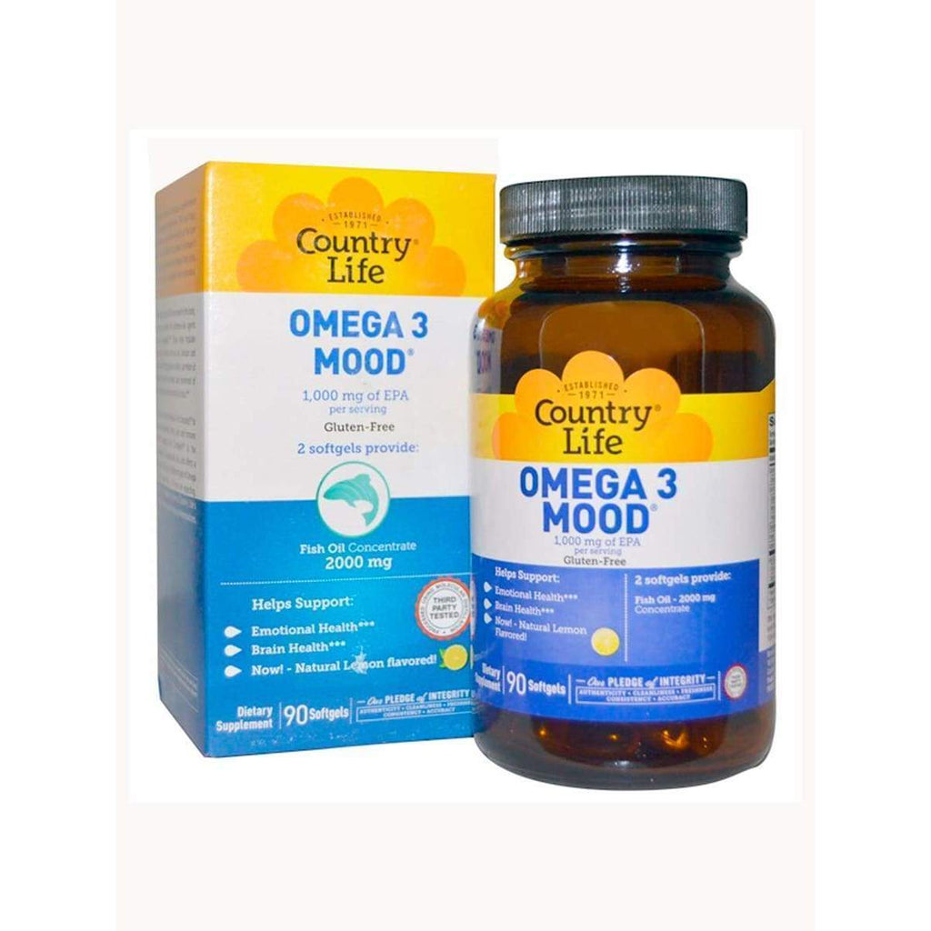 Omega 3 Mood 90 Softgels - Country Life - Earthly Nutrition