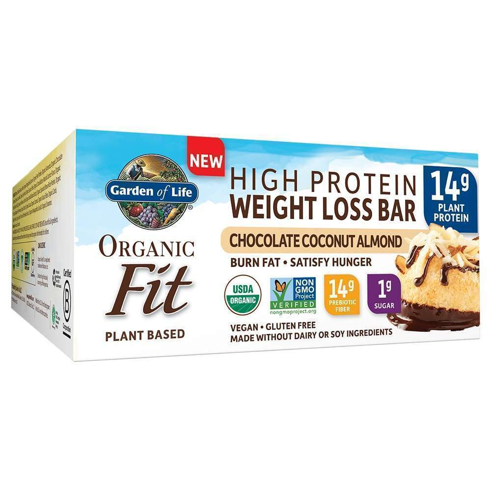 Organic Fit Chocolate Coconut Almond BOX - Garden of Life - Earthly Nutrition