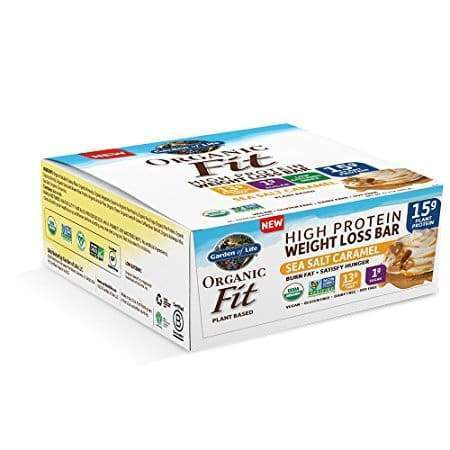 Organic Fit Plant Protein Weight Loss, Sea Salt - 12 Bars - Earthly Nutrition