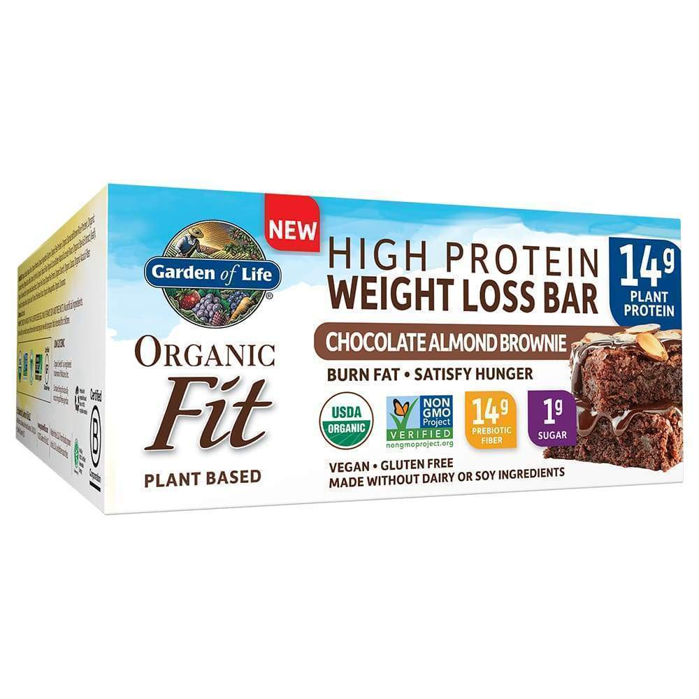 Organic Fit Weight Loss Chocolate Almond Brownie - 12 Bars - Earthly Nutrition
