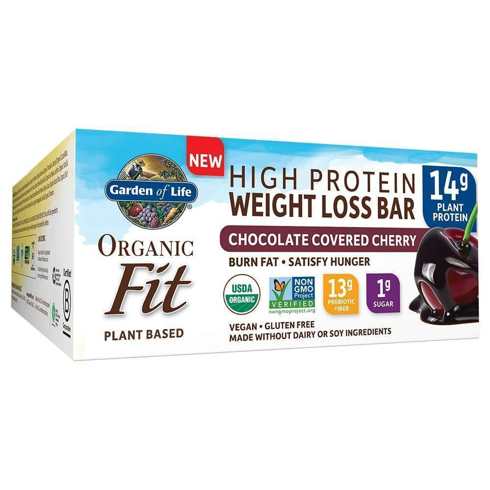 Organic Fit Weight Loss Chocolate Covered Cherry - 12 Bars - Earthly Nutrition