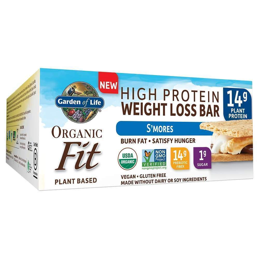 Organic Fit Weight Loss Plant Protein, S'Mores - 12 Bars - Earthly Nutrition