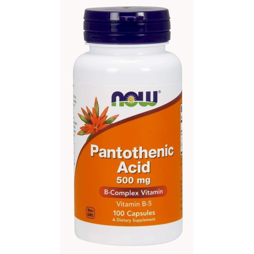 PANTOTHENIC ACID 500mg 100 CAPS - Earthly Nutrition