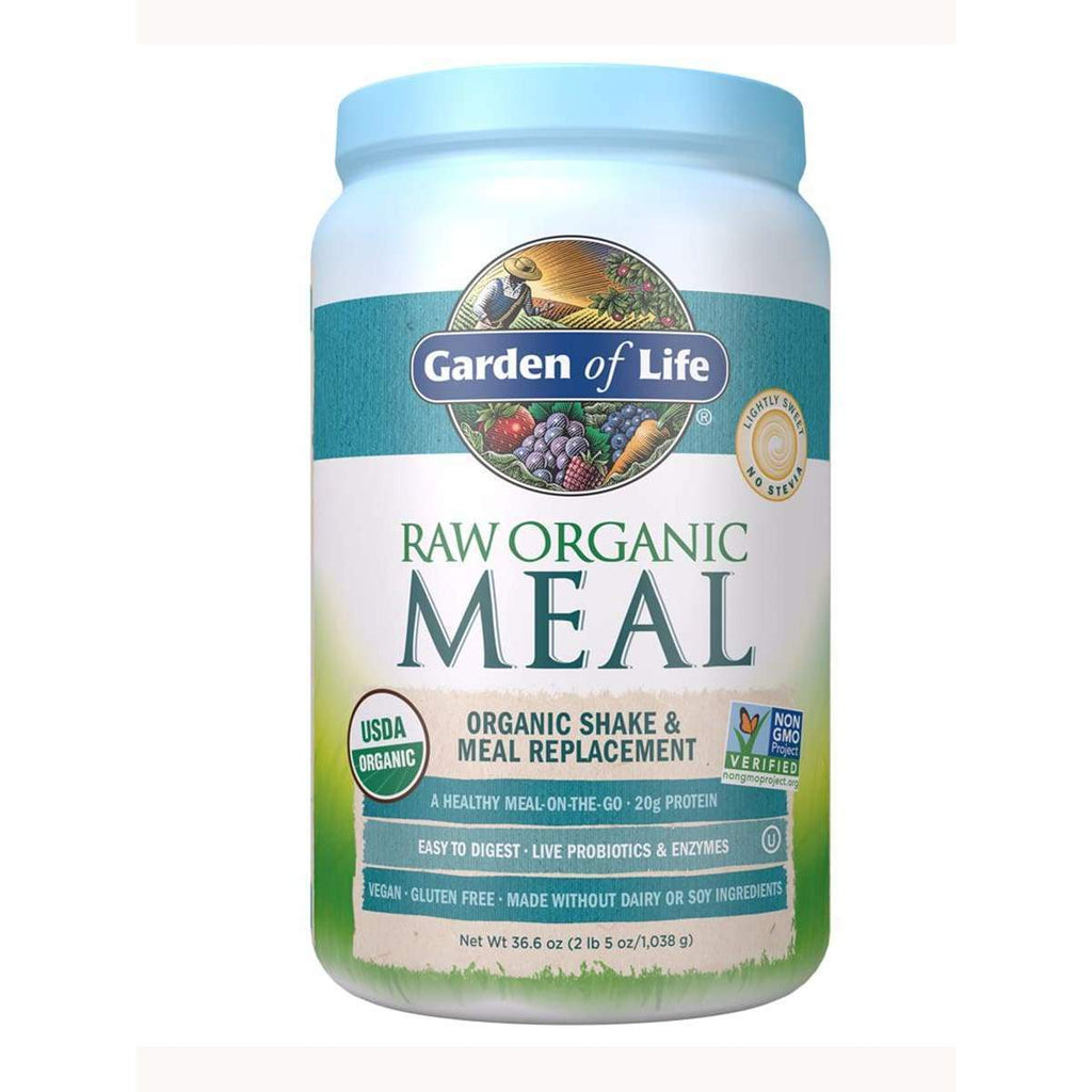 RAW Meal Organic Shake & Meal Replace 32 oz - Garden of Life - Earthly Nutrition