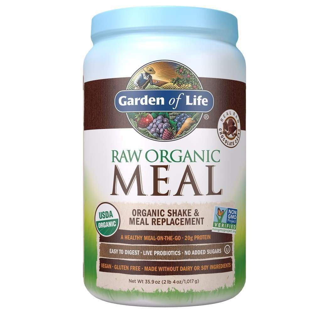 Raw Organic Meal Replacement Chocolate - 35.9 oz - Earthly Nutrition