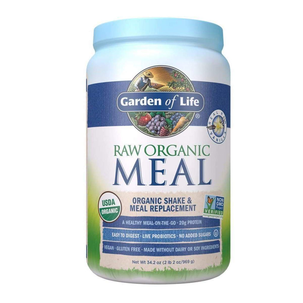 Raw Organic Meal Vanilla 969g Powder - Garden of Life - Earthly Nutrition