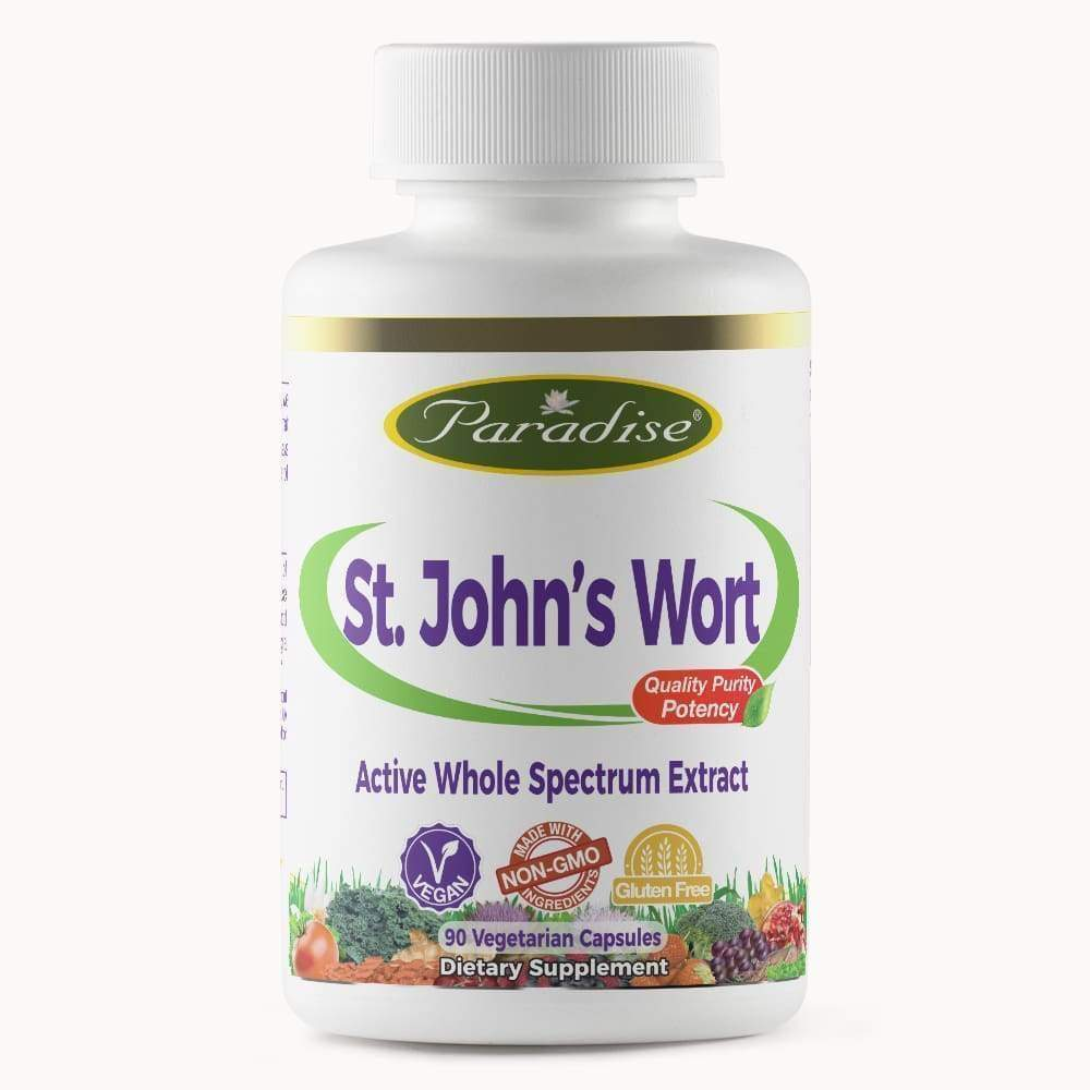 St John's Wort 90 vcap - Paradise Herbs - Earthly Nutrition