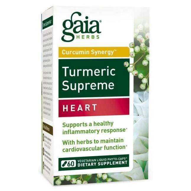 Turmeric Supreme Heart - Gaia Herbs - Earthly Nutrition