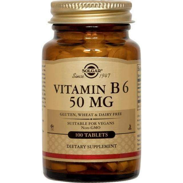 Vitamin B6 50 mg - NPG/Solgar - Earthly Nutrition